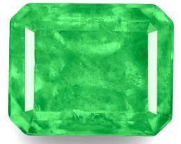 Colombia Emerald, 0.81 Carats, Green Emerald Cut