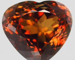 19.82 ct. 100% Natural Earth Mined Top Quality Topaz Orangey Brown Brazil