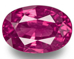 Madagascar Ruby, 1.15 Carats, Pinkish Red Oval