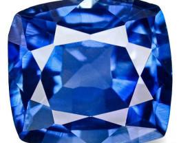 Madagascar Blue Sapphire, 0.56 Carats, Blue Cushion