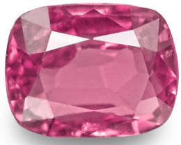 Madagascar Pink Sapphire, 1.16 Carats, Pink Cushion