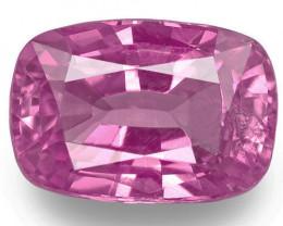 Madagascar Pink Sapphire, 1.23 Carats, Pink Cushion
