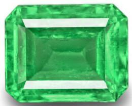 Colombia Emerald, 0.87 Carats, Green Emerald Cut