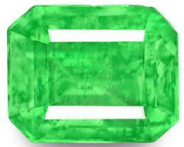 Colombia Emerald, 0.82 Carats, Green Emerald Cut