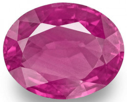 Madagascar Pink Sapphire, 1.40 Carats, Pink Oval