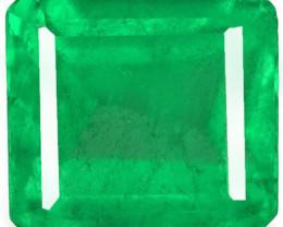 Colombia Emerald, 0.97 Carats, Green Emerald Cut
