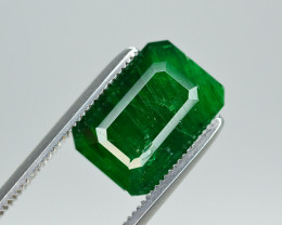Top Color 4 Ct Natural Emerald From Swat