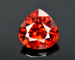 Reddish Orange Color 1.60 Ct Natural Spessartite Garnet. RA