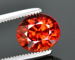 Reddish Orange Color 2.00 Ct Natural Spessartite Garnet. RA