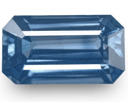 GIA & GRS Certified Madagascar Blue Sapphire, 3.23 Carats, Emerald Cut