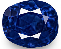 GRS Certified Sri Lanka Blue Sapphire, 3.04 Carats, Lively Rich Royal Blue