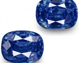 GRS Certified Sri Lanka Blue Sapphires, 2.02 Carats, Cushion