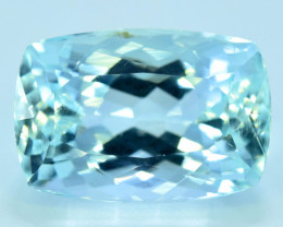 Certified 9.89 cts Top Color Natural Aquamarine from Pakistan