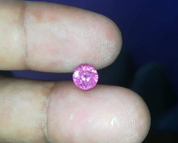 Beautiful hot pink sapphire.  Lots of sparkle in this one.  Look in the center of the stone and see the reflection.