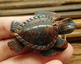 Hematite carved turtle pendant craft (G1190)
