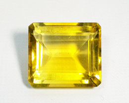 29.26 ct Top Grade Gem Exclusive Octagon Cut Natural Yellow Fluorite