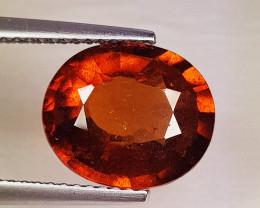 4. 35ct Top Grade Gem Oval Cut Top Luster Natural Hessonite Garnet