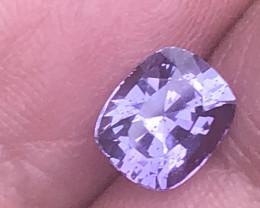 1.72 ct unheated violet sapphire certified Sri Lanka.