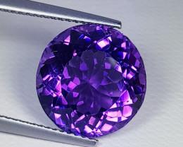 8.59ct  Top Quality Gem  Superb Round Cut Natural Purple Amethyst