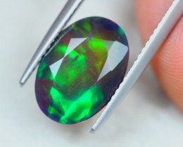 3.17ct Ethiopian Welo Solid Smoked Faceted Opal Lot LZB573