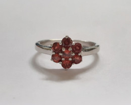Garnet 925 Sterling silver ring #new