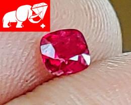 JEDI! GLOWING VIVID COLOR! Unheated 0.31 CT JEDI RED Spinel $1,000 (Burma)