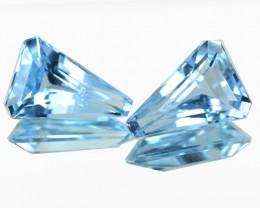 5.85 Cts Natural Blue Topaz Fancy Cut Pair