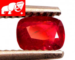 JEDI! GLOWING VIVID COLOR! Unheated 0.69 CT JEDI RED Spinel $500 (Burma)