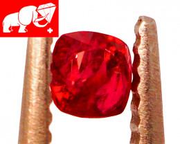 JEDI! GLOWING VIVID COLOR! Unheated 0.31 CT JEDI RED Spinel $675 (Burma)