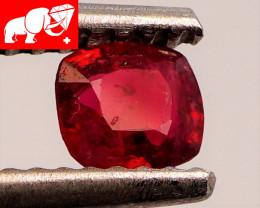 JEDI! GLOWING VIVID COLOR! Unheated 0.39 CT JEDI RED Spinel $1,100 (Burma)