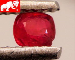 JEDI! GLOWING VIVID COLOR! Unheated 0.22 CT JEDI RED Spinel $220 (Burma)