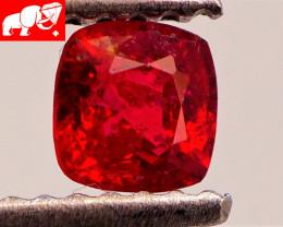 JEDI! GLOWING VIVID COLOR! Unheated 0.40 CT JEDI RED Spinel $1,400 (Burma)