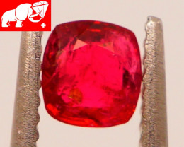 JEDI! GLOWING VIVID COLOR! Unheated 0.57 CT JEDI RED Spinel $750 (Burma)