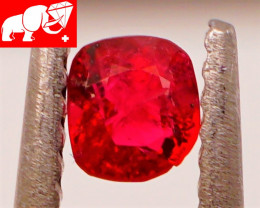 JEDI! GLOWING VIVID COLOR! Unheated 0.31 CT JEDI RED Spinel $375 (Burma)
