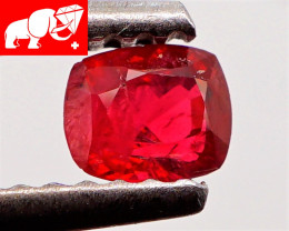 JEDI! GLOWING VIVID COLOR! Unheated 0.31 CT JEDI RED Spinel $450 (Burma)