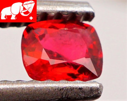 JEDI! GLOWING VIVID COLOR! Unheated JEDI RED Spinel $1,250 (Burma)