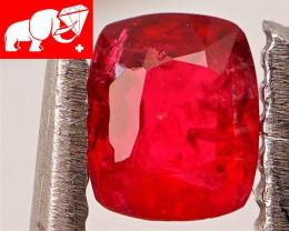 JEDI! GLOWING VIVID COLOR! Unheated 0.44 CT JEDI RED Spinel $500 (Burma)