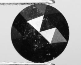 0.97 Cts Natural Coal Black Diamond Round (Rose Cut) Africa