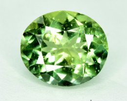 1.55 CTS NATURAL APATTIE - YELLOW GREEN BRILLIANCE