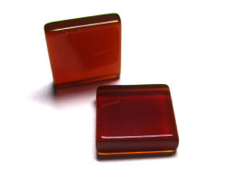 11.89tcw Carnelian  Matched Square Discs