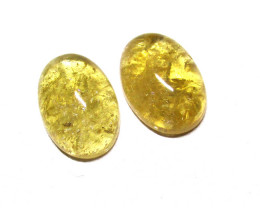 10.73tcw Citrine Matching Oval Cabochons