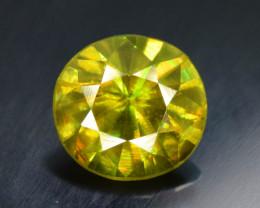 0.90 Carats Round Full Fire Sphene Titanite Gemstone From Pakistan