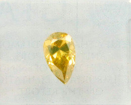 0.74ct Natural Fancy brownish orangy Yellow Diamond GIA certified