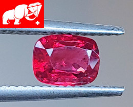 INTENSE COLOR! JEDI! Unheated 0.89 CT  Red Spinel $1,350 (Mogok. Burma)