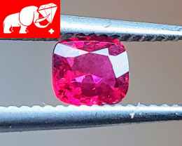 JEDI! INTENSE & GLOWING COLOR! Unheated 0.64 CT Red Spinel $1,350 (Burma)