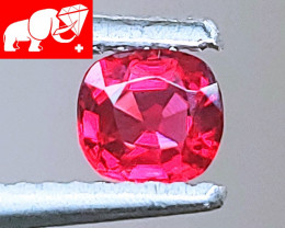 NR! JEDI! VVS! VIVID! Unheated Top Red Spinel $1,800 (Mogok, Burma)
