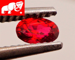 JEDI! INTENSE COLOR! Unheated 0.38 CT Red Spinel $575 (Mogok, Burma)