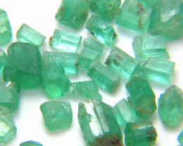 50Ct Natural Emerald Facet Rough Parcel