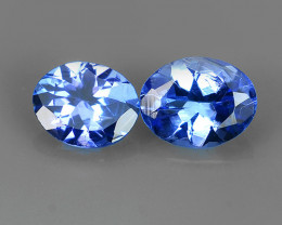 MATCHING PAIR MIND BOGGLING NATURAL RICH FIRE RARE-TANZANITE NR!!!