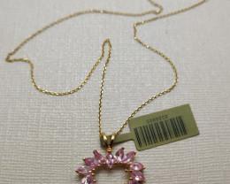 Stunning $1500  Nat 2.45 ctw. Nat Pink Sapphire Heart shape Pendant